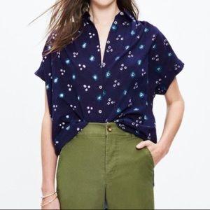 Madewell Central Shirt in Indigo Shibori, sz. M